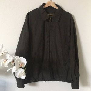 Orvis | members only zipper up jacket in green